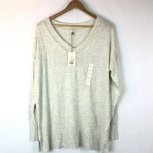 A New Day XXL Pullover Cardigan Thin Knit Cream